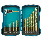 18 Pc HSS-TiN Drill Bit Kit